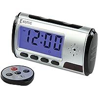König SAS-DVRDCD10 Horloge à caméra espion