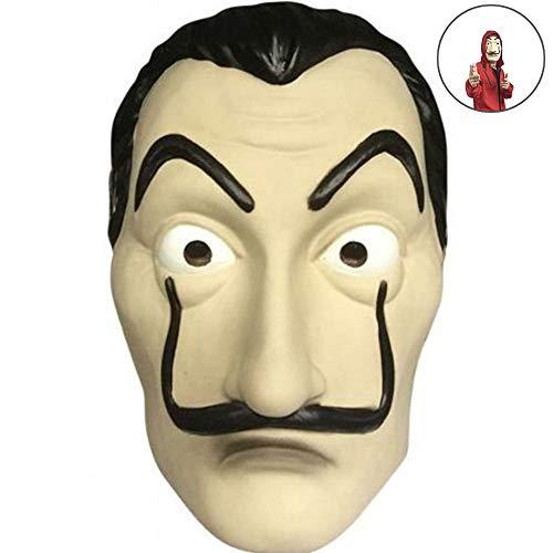 Kostüm Zeigen Verwendet - Cloud speeding Haus des Geldes Maske , PVC Rollenspiel Kostüm Halloween Dali Maske, Verwendet Für Halloween Ostern Weihnachten Maskerade Bar Dekoration Festival