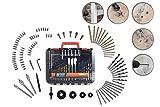 WOLFGANG® 100 Teile Bohrer Bit Set | Für Akkubohrschrauber, Bohrmaschine | Twist-, Holz-, Mauerwerk-Bohrer, Lochsäge, 52x Bits etc. | Carbonstahl, HSS | SDS Plus Bohrer Set | Universal Im Koffer