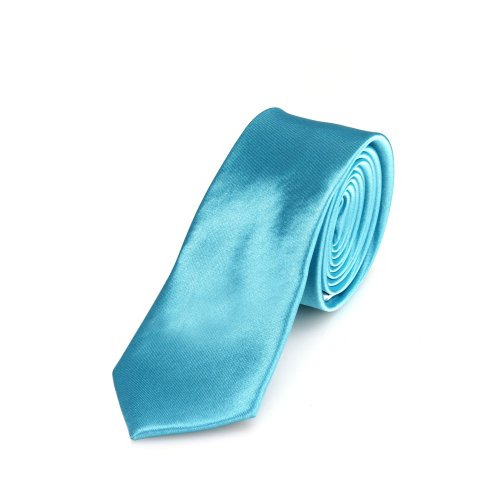 DonDon Corbata angosta de color turquesa - hecho a mano // en diferentes colores