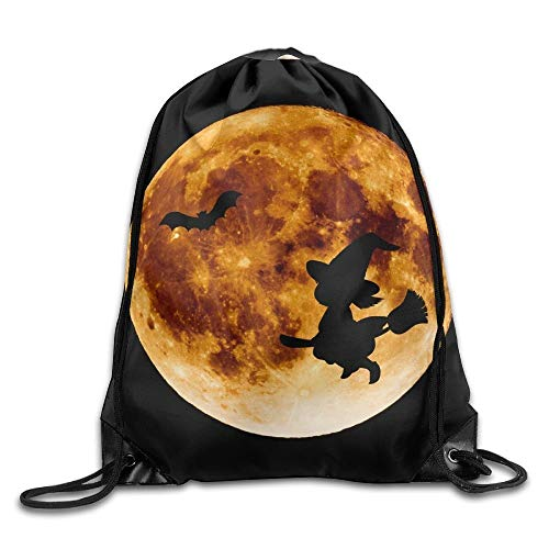 Naiyin Unisex Bat Silhouette for Halloween Print Drawstring Backpack Rucksack Shoulder Bags Gym Bag Sport ()