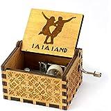 Zesta Wooden Hand Cranked Collectable Engraved Music Box -La La Land