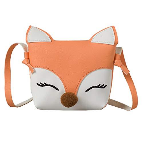 Frauen Handtasche Kinder Baby Mädchen Jungen Fox Umhängetasche Handtaschen Mini Crossbody Tasche Paket Orange -