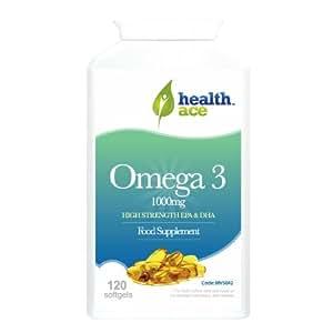 HealthAce Omega 3 33/22 1000 mg 120 gels mous avec 330mg EPA et 220 mg de DHA - Fabriqué aux normes pharmaceutiques GMP | Antioxydant | Huile de poisson