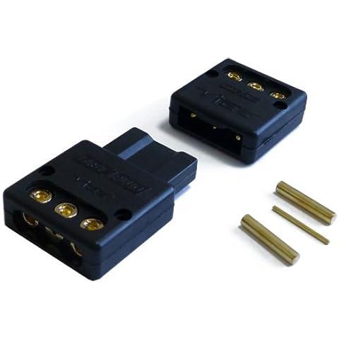 Vibe 50177 Fast Plug - Conector de 3 polos para amplificador, +, -, control remoto