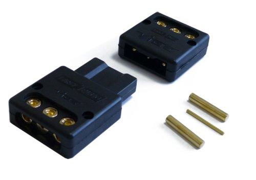 Vibe 50177 - Set di connettori Fast Plug a 3 poli per amplificatore (Più, Meno, Telecomando)