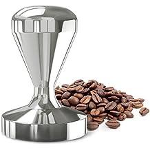 Máquina de Tamper del café, Dland 49m m Diámetro de 51m m Acero inoxidable Manija del apretón de Flatbase Bean Barista Espresso Tamper Pressure Cocinas Accesorios (49mm)