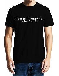 GeekDawn Men's Round Neck Geek T-Shirt|Unix T-Shirt|Coder T-Shirt|Programmer T-Shirt-Send Complaints To/dev/Null