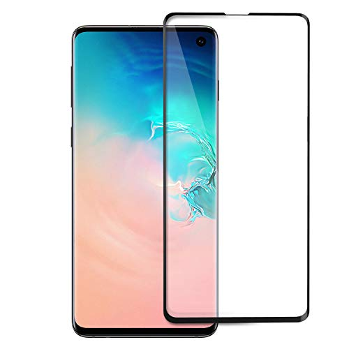 TiMOVO Screen Protector Compatible with Galaxy S10, Full 3D Curved Edge Anti-Scratch Ultra Clear 9H Hardness Tempered Glass Screen Protector Fit Samsung Galaxy S10 - Black