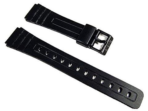 Casio Ersatzband Uhrenarmband Resin schwarz 18mm F-105W, F-91W