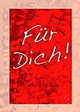 S�n Gross 12er Set Postkarten Geschenkkarten Gru�karten F�r Dich rot
