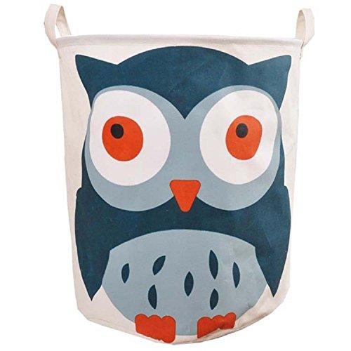 Eule-geschenk-korb (gzhouse Wäschekorb Aufbewahrung Leinwand Faltbarer Aufbewahrungskorb für Kinder Kinder Spielzeug Kleidung Aufbewahrungskörbe Tasche als Wäschesammler eule)