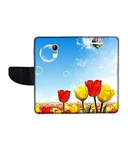 KolorEdge Printed Flip Cover For CoolPad Dazen Note 3 Multicolor - (1479-55KeMLogo11436DazenNote3)