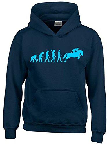 Kinder Sweatshirt Mit Kapuze (REITEN Evolution Kinder Sweatshirt mit Kapuze HOODIE navy-sky, Gr.164cm)