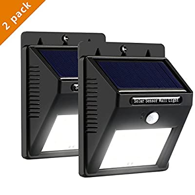 Solar Motion Sensor Lights, MengK 16 LED Solar Energy Powered Outdoor Bright Wall Light Wireless Waterproof Security Lighting for Deck, Yard,Home,Stairs,Patio,Porch,Garden,Driveway( 2 Pack ) - low-cost UK light shop.