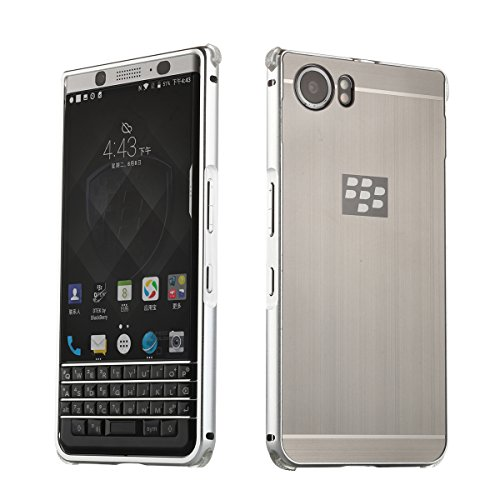 Metall Schutzhülle Alu Hard-Case Schutz Handytasche Ultra-Slim Handy-Hülle für Blackberry KEYone, Silber