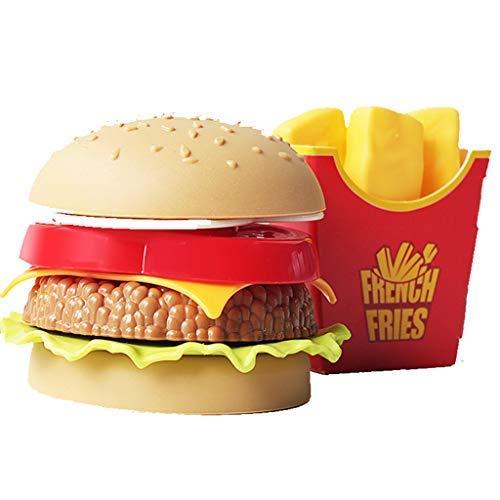 Ogquaton 1 Satz Fast Food Deluxe Dinner Kunststoff Diner Food für kreative Pretend Play Klassische MEA Kinder Spielzeug, Geschenk Bildung Spielzeug für Jungen mädchen spa -