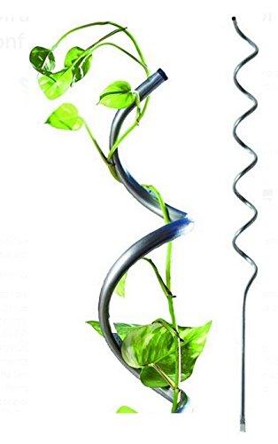 10 tutori sostegni spirali per piante, pomodori acciaio zincato h205cm professionali