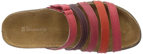 El Naturalista Torcal, Sandales  Bout ouvert femme Rouge - Rot (Grosella Mixed)