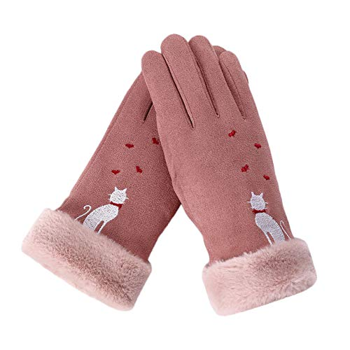 Quaan Damen Sport & Freizeit Handschuhe, Mode Winter Warm schön Hase Baumwolle Gestrickt Traval Fahrrad Motorrad Handschuhe
