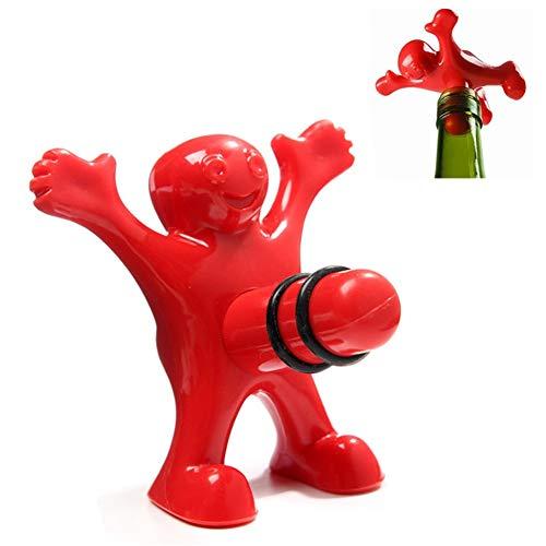 2 Beanie Cap ABS Gummi Weinflaschenverschluss Neuheit Kork Ersatz Getränkehalter halten Getränke frisch mit luftdichtem Verschluss one size Pack of 2 ()