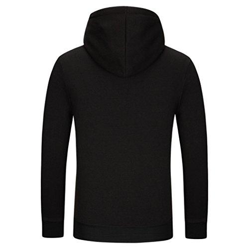 VENI MASEE Herren Scorpion Print Hoodies Pullover Outdoor Sweater mit Kapuze(M-3XL) Dunkelblau