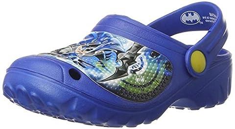 Batman Chaussures Enfant - Batman Bat Doonuto, Sabots Garçon, Bleu Roi,