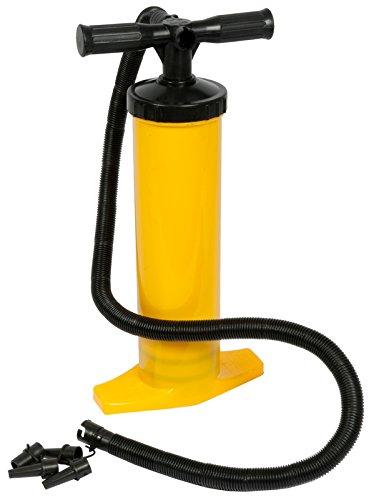 Doppelhubpumpe / Handpumpe Doppel-Hub, mit Standfuß, für Luftmatratze Wasserball, Pool, Luftpumpe -