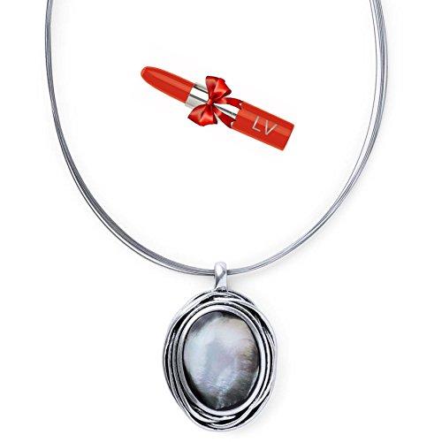antonio-mir-collar-plateado-de-hilo-metalico-con-colgante-nacarado-ovalado-gargantilla-elegante-con-