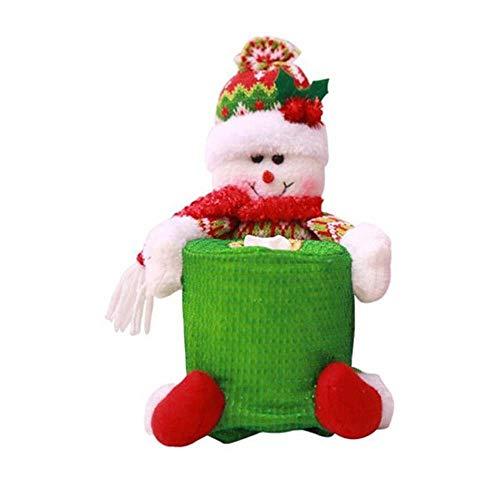 SPFAZJ Weihnachtstisch Deko Weihnachtsdekoration liefert Esstisch Hotelbad Runde Papier Handtuch Hülse Aufbewahrungstasche Lieferungen