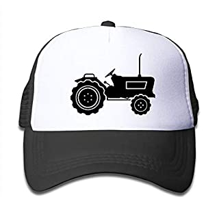 chilun Aiw Wfdnn Mesh Baseball Cap Kid's Black Tractor Casual Adjustable (One Size)