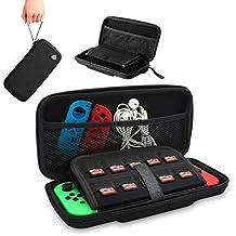 Funda para Nintendo Switch, [Oferta] EasySMX Bolsa Nintendo Switch para Viaje Rígida con más Espacio de Almacenamiento para 10 Tarjeta NDS, Oficial Adaptador de AC y otros Accesorios Nintendo Switch