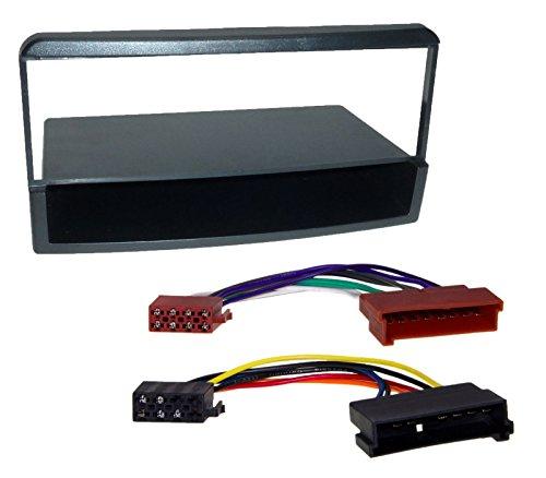 Radio Einbau Blende mit Ablage Rahmen DIN ISO Adapter Kabel Stecker
