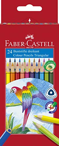 Faber-Castell 116544 - Buntstifte Dreikantform, 24er Kartonetui, 1 Stück