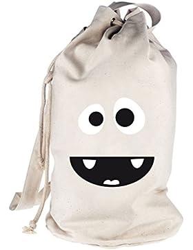 Shirtstreet24, MONSTER HIPPO, bedruckter Seesack Umhängetasche Schultertasche Beutel Bag