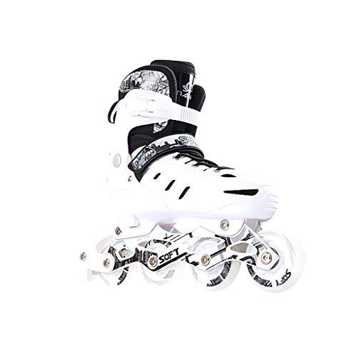 XZ15 Patines en línea, Adulto de una Fila Skates Hombres y Mujeres Profesionales Ajustable Patines del Sistema Completo Full Flash (Color : #3, Size : Extra Large Models (42-45))
