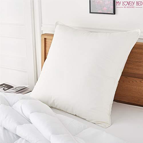 My Lovely Bed - Oreiller Percale 100% Coton - 65x65 cm - Doux et Gonflant - Confort Moelleux - Anti acariens - Haut de Gamm