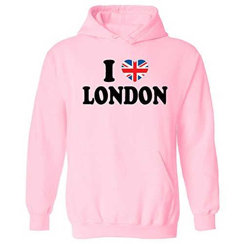 I Love London Union Jack Heart Unisex Pullover Hoodie for sale  Delivered anywhere in Ireland