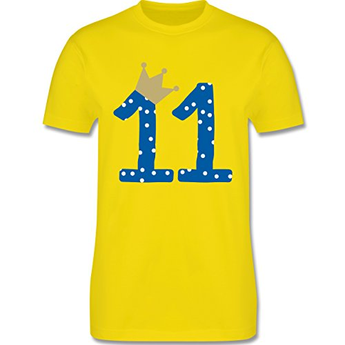 Geburtstag - 11. Geburtstag Krone Junge Elfter - Herren Premium T-Shirt Lemon Gelb