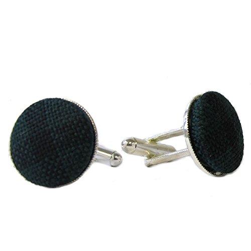 Ingles Buchan - Manschettenknöpfe mit Tartanmuster - Black Watch oder Royal Stewart - Black Watch (Kostüm Ingleses)