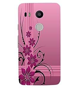 ColourCraft Beautiful Flower Design Back Case Cover for LG GOOGLE NEXUS 5X