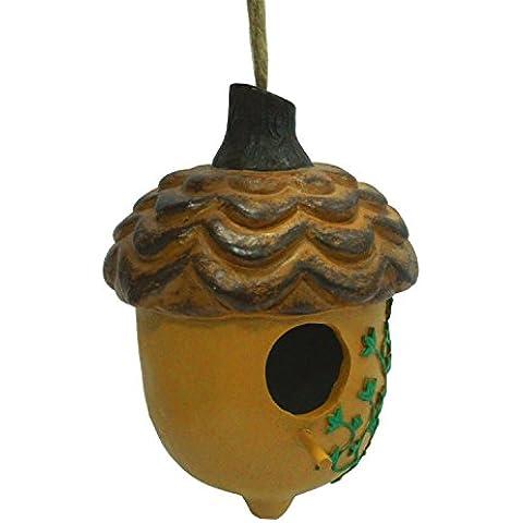 WildBird Care Pet Supplies Resin Acorn Bird House With Leaf (Brown)