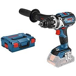 Bosch Professional Perceuse-visseuse Sans Fil GSR 18V-85 C (18V, Ø de vissage maxi. : 12 mm, Couple maxi. : 110 Nm, L-BOXX, Sans batterie)