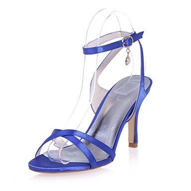 RTRY Scarpe Donna Satin Stiletto Heel Cinturino Alla Caviglia/Open Toe Sandali Matrimoni/Parte &Amp; Eveningshoes Più Colori Disponibili US9 / EU40 / UK7 / CN41
