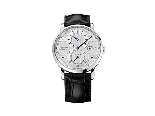 Louis Erard Excellence Regulator Automatic Watch, Silver, Guilloché, Day