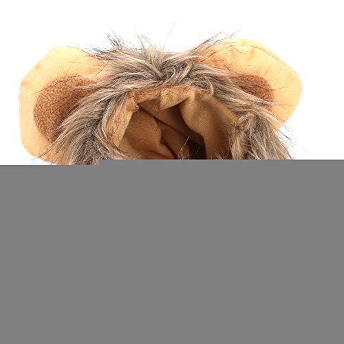 Bicaquu Süßes Haustier Katze Hund Löwe Perücke Hut Kostüm lustig Dress up für Urlaub aus - Blonde Katze Kostüm