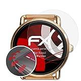 atFoliX Schutzfolie passend für Fossil Q Wander Folie, entspiegelnde & Flexible FX Bildschirmschutzfolie (3X)