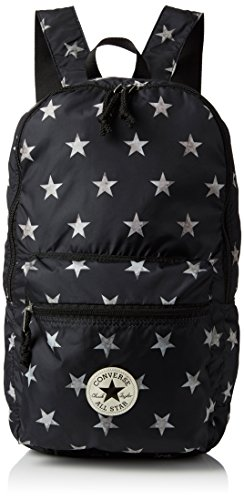 Converse Ct Packable Graphic Zaino, Unisex Adulto, Nero/Stelle Bianche, 43X28X18