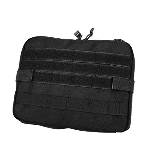 Gazechimp Molle Beutel Pouch Rucksack Zusätzlicher Packsack Stausack Sportrucksack Zusatztaschen - Schwarz