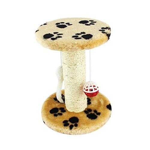 Baoblaze 1 Stk. Baum förmig Elegante Kratzen Spielzeug mit Hängende Maus für Katze Kater und Kätzchen - Muster Wahl - Pfoten Muster Katze Kratzt Haus